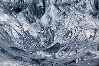 Abstract pattern in glacier, Iceland