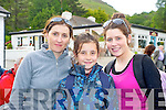 Siobhan, Fiadhna and Christina Tangney pictured at the Bar-B-Q in Kate Kearneys Cottage after the climb of Carrauntoohill in aid of Cystic Fibrosis on Saturday.