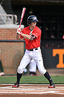 Georgia Bulldogs center fielder Stephen Wrenn (11) awaits a pitch during a game against the Tennessee Volunteers at Lindsey Nelson Stadium March 21, 2015 in Knoxville, Tennessee. The Bulldogs defeated the Volunteers 12-7. (Tony Farlow/Four Seam Images)
