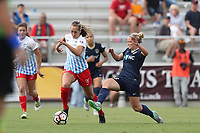 Cary, North Carolina  - Sunday May 21, 2017: Summer Green and Kristen Hamilton during a regular season National Women's Soccer League (NWSL) match between the North Carolina Courage and the Chicago Red Stars at Sahlen's Stadium at WakeMed Soccer Park. Chicago won the game 3-1.