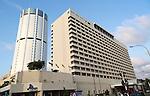 Modern architecture buildings central Colombo, Sri Lanka, Asia - Galadari Hotel and BOC building