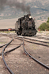 No. 93 returns from an excursion, Nevada Northern Railway, East Ely yards, Nev.