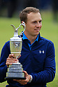 Jordan Spieth (USA) poses with the Claret Jug after the final round of  the 146th Open Championship played at Royal Birkdale, Southport,  Merseyside, England. 20 - 23 July 2017 (Picture Credit / Phil Inglis)