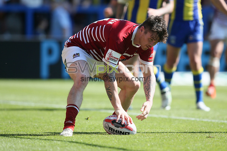 Picture by Paul Currie/SWpix.com - 17/06/2017 - Rugby League - Betfred Super League - Warrington Wolves v Wigan Warriors -  Halliwell Jones Stadium, Warrington, England - John Bateman of Wigan Warriors scoring the 4th try