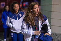 COLUMBUS, OH - NOVEMBER 07: Tobin Heath #17 of the United States enters the stadium during a game between Sweden and USWNT at Mapfre Stadium on November 07, 2019 in Columbus, Ohio.
