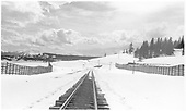Looking south down the RGS track from the Lizard Head depot/section house.<br /> RGS  Lizard Head, CO  Taken by Dunscomb, Guy L. - 5/4/1942