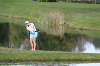 Jacqui Concolina (USA) chips into the 5th green during Thursday's Round 1 of The Evian Championship 2018, held at the Evian Resort Golf Club, Evian-les-Bains, France. 13th September 2018.<br /> Picture: Eoin Clarke | Golffile<br /> <br /> <br /> All photos usage must carry mandatory copyright credit (&copy; Golffile | Eoin Clarke)