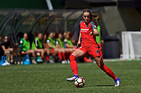 Portland, OR - Saturday April 15, 2017: Celeste Boureille during a regular season National Women's Soccer League (NWSL) match between the Portland Thorns FC and the Orlando Pride at Providence Park.