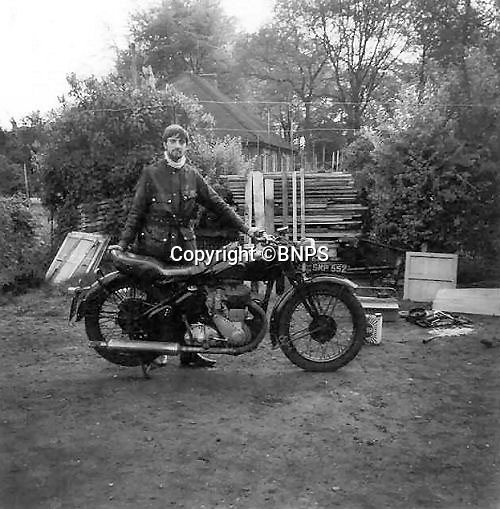 BNPS.co.uk (01202 558833)<br /> Pic: PhilYeomans/BNPS<br /> <br /> Bike nut from an early age...<br /> <br /> Plucky pensioner Eric Patterson is celebrating after setting a string of two-wheeled land speed records - at the tender age of 68.<br /> <br /> Former painter and decorator Eric has smashed four world records on his motorbike after discovering a daredevil streak in his early 60s.<br /> <br /> Eric has ridden motorbikes all his life but only found a love for setting speed records in 2008 following divorce after 28 years of marriage followed by a cancer scare.<br /> <br /> The unlikely record breaker has since become an expert at coaxing powerful bikes to speeds of more than 130mph at the world renowned Bonneville salt flats in Utah, USA.