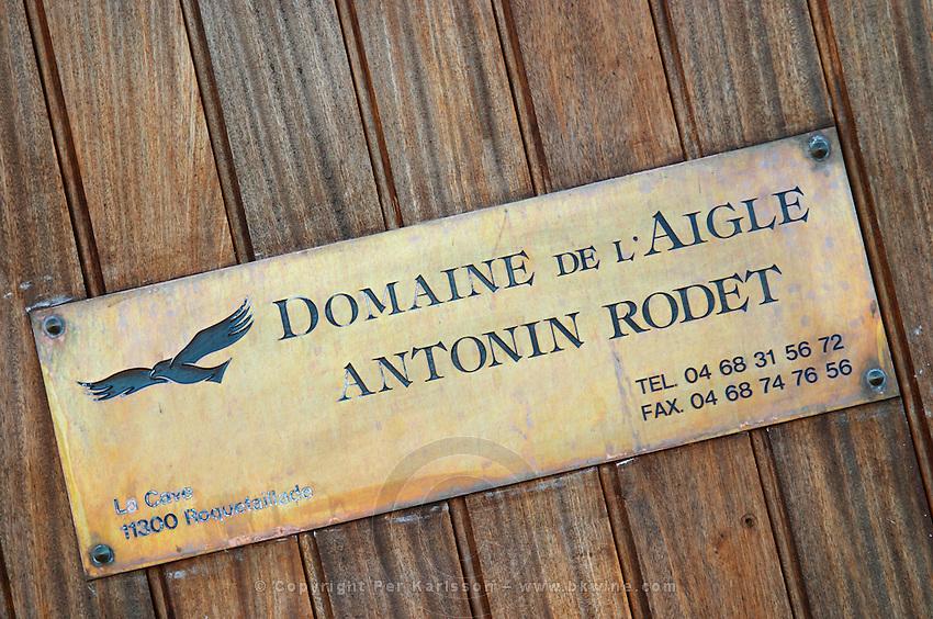 Domaine de l'Aigle. Limoux. Languedoc. France. Europe.