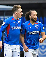 Marcus Harness of Portsmouth right celebrates scoring the first goal with Ronan Curtis of Portsmouth during Portsmouth vs AFC Wimbledon, Sky Bet EFL League 1 Football at Fratton Park on 11th January 2020