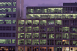 Europe, DEU, Germany, Northrhine Westphalia, Rhineland, Lower Rhine, Dusseldorf, Media Port, Office Building at twilight....[ For each utilisation of my images my General Terms and Conditions are mandatory. Usage only against use message and proof. Download of my General Terms and Conditions under http://www.image-box.com or ask for sending. A clearance before usage is necessary...Material is subject to royalties. Each utilisation of my images is subject to a fee in accordance to the present valid MFM-List...Contact | archive@image-box.com | www.image-box.com ]