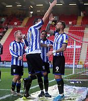 Steven Fletcher of Sheffield Wednesday celebrates during Charlton Athletic vs Sheffield Wednesday, Sky Bet EFL Championship Football at The Valley on 30th November 2019