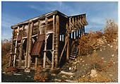Remains of RGS Ute Junction coal chute in 1989.<br /> RGS  Ute Junction, CO  Taken by Dorman, Richard L. - 1989