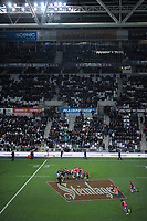 France warms up for the Steinlager Series international rugby match between the New Zealand All Blacks and France at Forsyth Barr Stadium in Wellington, New Zealand on Saturday, 23 June 2018. Photo: Dave Lintott / lintottphoto.co.nz