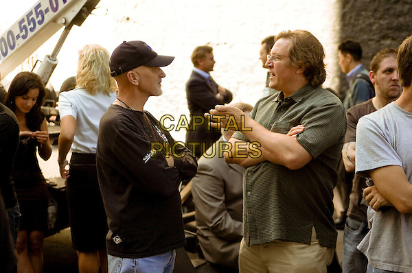 IAN BRYCE & LORENZO DI BONAVENTURA (PRODUCERS).on the set of Transformers .**Editorial Use Only**.CAP/FB.Supplied by Capital Pictures