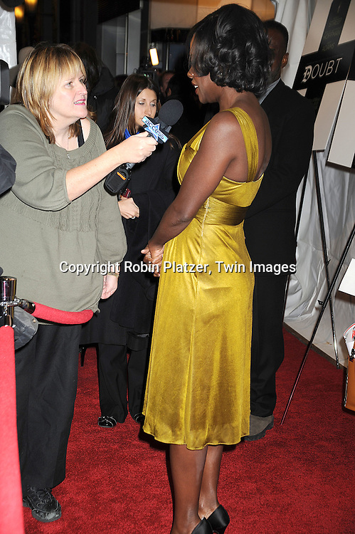 "actress Viola Davis..attending The New York Premiere of ""Doubt"" starring ..Meryl Streep, Philip Seymour Hoffman, Viola Davis, Amy Adams and written and directed by John Patrick Shanley on December 7, 2008 at The Paris Theatre in New York City.....Robin Platzer, Twin Images"
