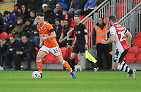 Blackpool's Jordan Thompson<br /> <br /> Photographer Kevin Barnes/CameraSport<br /> <br /> Emirates FA Cup First Round - Exeter City v Blackpool - Saturday 10th November 2018 - St James Park - Exeter<br />  <br /> World Copyright &copy; 2018 CameraSport. All rights reserved. 43 Linden Ave. Countesthorpe. Leicester. England. LE8 5PG - Tel: +44 (0) 116 277 4147 - admin@camerasport.com - www.camerasport.com