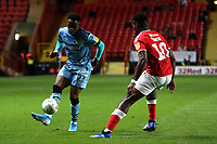 Udoka Godwin-Malife of Forest Green Rovers and Chuks Aneke of Charlton Athletic during Charlton Athletic vs Forest Green Rovers, Caraboa Cup Football at The Valley on 13th August 2019