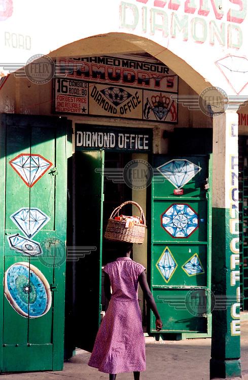 Teun Voeten/Panos Pictures..Sierra Leone. Dimond dealer in Bo.