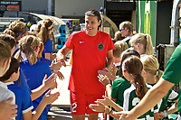 Portland, OR - Saturday September 02, 2017: Christine Sinclair before a regular season National Women's Soccer League (NWSL) match between the Portland Thorns FC and the Washington Spirit at Providence Park.
