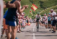 Tom-Jelte Slagter (NED/Dimension Data) up the last climb of the 2018 Tour: the Col d'Aubisque (HC/1709m/16.6km@4.9%)<br /> <br /> Stage 19: Lourdes &gt; Laruns (200km)<br /> <br /> 105th Tour de France 2018<br /> &copy;kramon