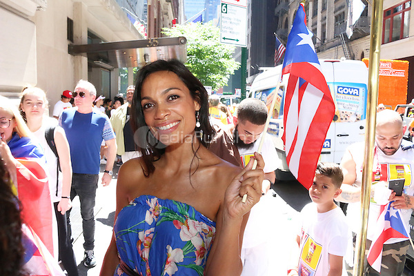 NEW YORK, NY - JUNE 12: Rosario Dawson at The Puerto Rican Day Parade in New York City on June 12, 2016. Photo Credit: Walik Goshorn/Media Punch