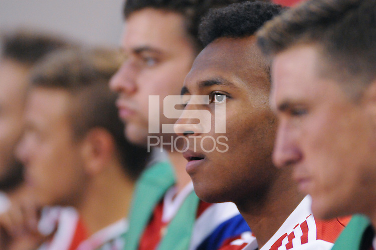 HARRISON, NJ - Thursday July 31, 2014: German power-house Bayern Munich take on Mexican Squad Club Deportivo Guadalajara in a friendly at Red Bull Arena as part of the Audi Football Summit.
