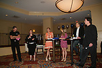 Gina Tognoni, Marcy Rylan, Grant Aleksander and Frank Dicopoulos at the VP GL Breakfast followed by a meet and greet and later that day the 4th Annual Fashion Show Luncheon on April 26, 2009 to benefit Young Women's Cancer Awareness Foundation at Embassy Suites Hotel, Coraopolis (near Pittsburgh). (Photo by Sue Coflin/Max Photos)