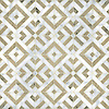 Laberinto, a handmade mosaic shown in honed Calacatta and honed Jura Grey, is part of the Parterre Collection by Paul Schatz for New Ravenna.