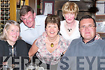 DINNER: Out for dinner to celebrate the New Year were Mary and Tony Palmer, Maggie Stack, Mary Stack and Richard Bettles (Abbeydorney) at The Meadowlands Hotel, Tralee on Sunday night.