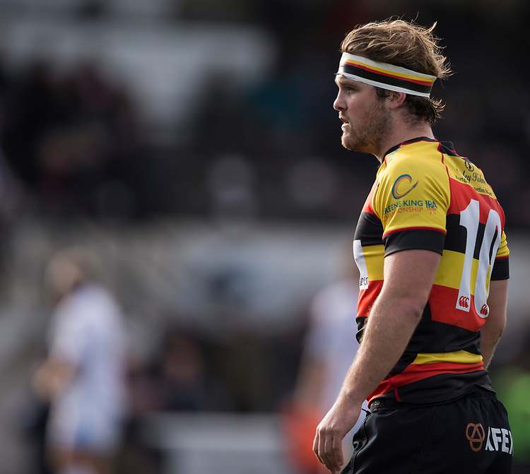 Richmond Rugby&rsquo;s James Swan<br /> <br /> Photographer Bob Bradford/CameraSport<br /> <br /> Rugby Union - British and Irish Cup Pool 4 - Richmond v Rotherham Titans - Saturday 21st October 2017 - The Athletic Ground - Richmond<br /> <br /> World Copyright &copy; 2017 CameraSport. All rights reserved. 43 Linden Ave. Countesthorpe. Leicester. England. LE8 5PG - Tel: +44 (0) 116 277 4147 - admin@camerasport.com - www.camerasport.com