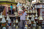 "A picture taken on April 26, 2018 show an Egyptian man carries traditional lanterns known in Arabic as ""Fanous"", ahead of the holy Muslim month of Ramadan in Cairo, Egypt. Ramadan is sacred to Muslims because it is during that month that tradition says the Koran was revealed to the Prophet Mohammed. The fast is one of the five main religious obligations under Islam. Muslims around the world will mark the month, during which believers abstain from eating, drinking, smoking and having sex from dawn until sunset. Photo by Amr Sayed"