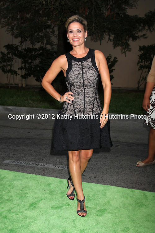 LOS ANGELES - SEP 29:  Cat Cora arrives at the 2012 Environmental Media Awards at Warner Brothers Studio on September 29, 2012 in Burbank, CA
