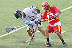 Mission Viejo, CA 05/14/11 - Anthony Marsala (Loyola #19) and Kurt denburg (Mission Viejo #22) in action during the Division 2 US Lacrosse / CIF Southern Section Championship game between Mission Viejo and Loyola at Redondo Union High School.