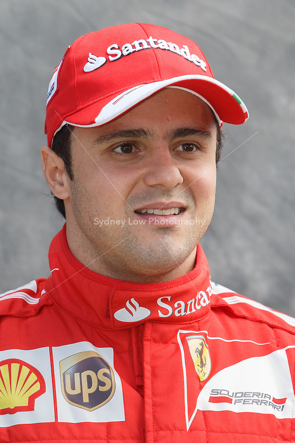 Felipe Massa (BRA) from the Scuderia Ferrari team poses for his portrait on day one of the 2013 Formula One Rolex Australian Grand Prix at the Albert Park Circuit in Melbourne, Australia.