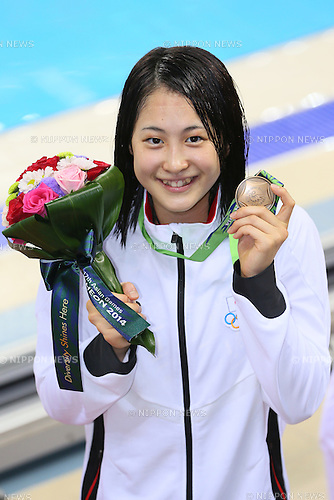 Asami Chida (JPN), <br /> SEPTEMBER 25, 2014 - Swimming : <br /> Women's 800m Freestyle Final <br /> at Munhak Park Tae-hwan Aquatics Center <br /> during the 2014 Incheon Asian Games in Incheon, South Korea. <br /> (Photo by YUTAKA/AFLO SPORT)