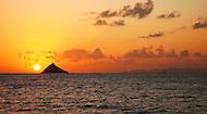 A tropical sunset.