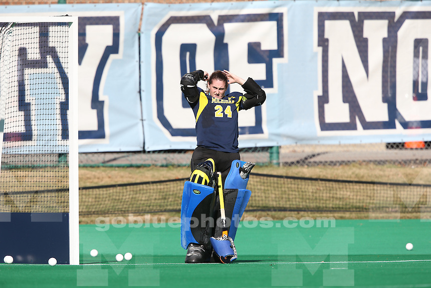 The University of Michigan field hockey team loses to North Carolina, 1-0, in the NCAA tournament at Chapel Hill on Nov. 15, 2015.