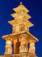 Pagode am Gwanghwamun Platz und Schmuck zu Buddha's Geburtstag, Seoul, Südkorea, Asien<br /> pagoda with decoration for Buddha's birthday at Gwanghwamun place in Seoul, South Korea, Asia