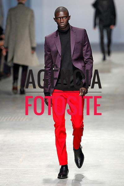 Milao, Italia &ndash; 01/2014 - Desfile de Costume National durante a Semana de moda masculina de Milao - Inverno 2014. <br /> Foto: FOTOSITE