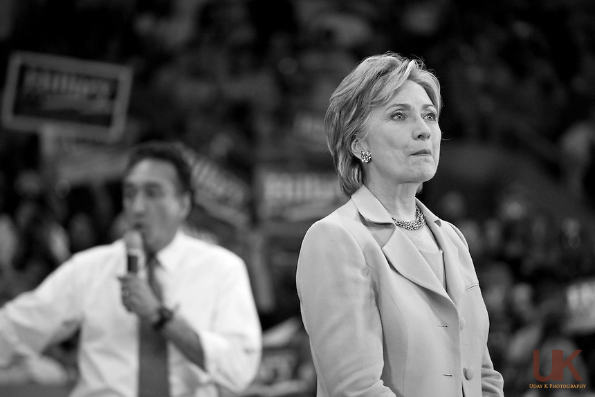 Hillary Clinton at Democratic Rally before Texas March 4th Primary.