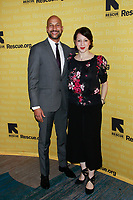 NEW YORK, NY - NOVEMBER 1: Keegan-Michael Key and Elisa Pugliese  at IRC Hosts The 2018 Rescue Dinner at New York Hilton Midtown on November 1, 2018 in New York City.        <br /> CAP/MPI99 <br /> &copy;MPI99/Capital Pictures