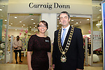 Mayor Richie Culhane and Larisa Ivanova the Manager of the new Carraig Donn store at Scotch Hall.