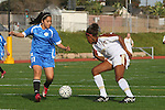 Torrance, CA 02/08/10 - Chidera Akabuilo (West #19) and Eliuth Tapia (Leuzinger #11) in action during the Bay League game between West and Leuzinger at West High School in Torrance.