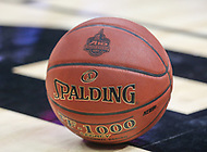 Washington, DC - March 10, 2018: The official basketball during the Atlantic 10 semi final game between Saint Joseph's and Rhode Island at  Capital One Arena in Washington, DC.   (Photo by Elliott Brown/Media Images International)