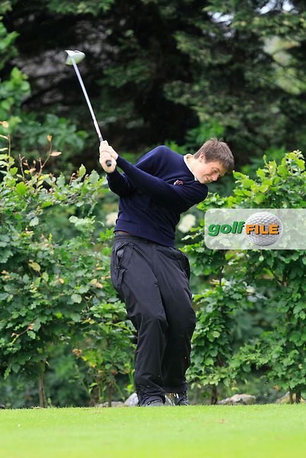 Eric Rumley (Kinsale) on the 18th tee during Round 3 of the Irish Boys Amateur Open Championship at Thurles Golf Club on Thursday 26th June 2014.<br /> Picture:  Thos Caffrey / www.golffile.ie