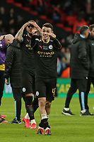 Phil Foden of Manchester City looks to the Manchester City end of the game. Aston Villa vs Manchester City, Caraboa Cup Final Football at Wembley Stadium on 1st March 2020