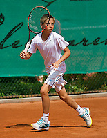 August 4, 2014, Netherlands, Dordrecht, TC Dash 35, Tennis, National Junior Championships, NJK,  Sander  Jong (NED)<br /> Photo: Tennisimages/Henk Koster