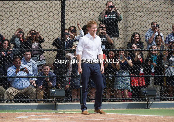 "PRINCE HARRY .visits Harlem RBI a baseball program for inner cities..The Prince was shown round by Yankees first baseman Mark Teixeira and had a game with the kids_14/05/2013.Prince Harry is on a week long USA visit the includes Washington, Denver, Colorado Springs, New Jersey, New York and Conneticut..Mandatory credit photo: ©DIASIMAGES..NO UK USE UNTIL 13/6/2013.(Failure to credit will incur a surcharge of 100% of reproduction fees)..**ALL FEES PAYABLE TO: ""NEWSPIX  INTERNATIONAL""**..Newspix International, 31 Chinnery Hill, Bishop's Stortford, ENGLAND CM23 3PS.Tel:+441279 324672.Fax: +441279656877.Mobile:  07775681153.e-mail: info@newspixinternational.co.uk"